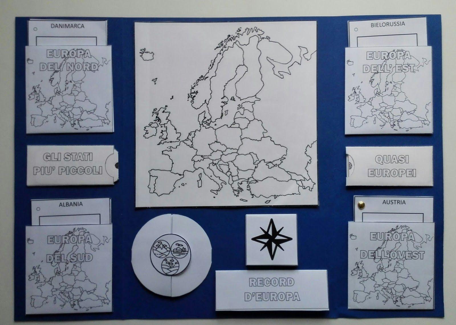 Cartina Muta Degli Stati Dellunione Europea.Vi Presento Il Lapbook Di Geografia Europa Alla Scoperta Di Un
