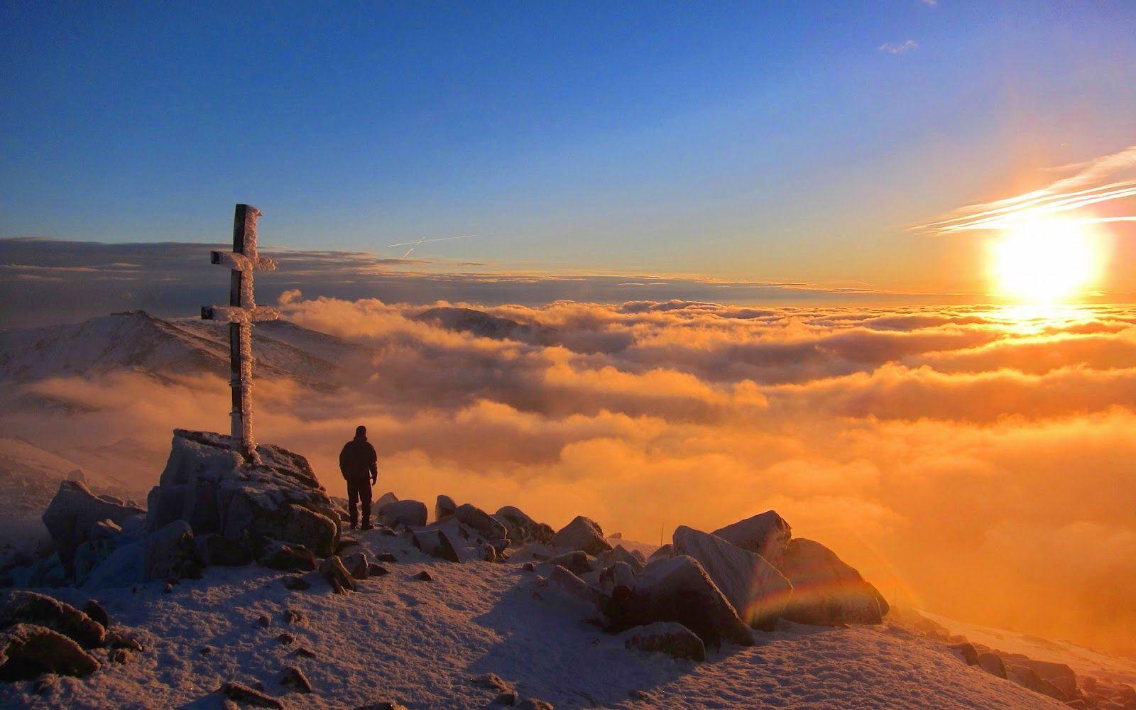 Sonnenuntergang in den bergen bild | winter wonderland ...