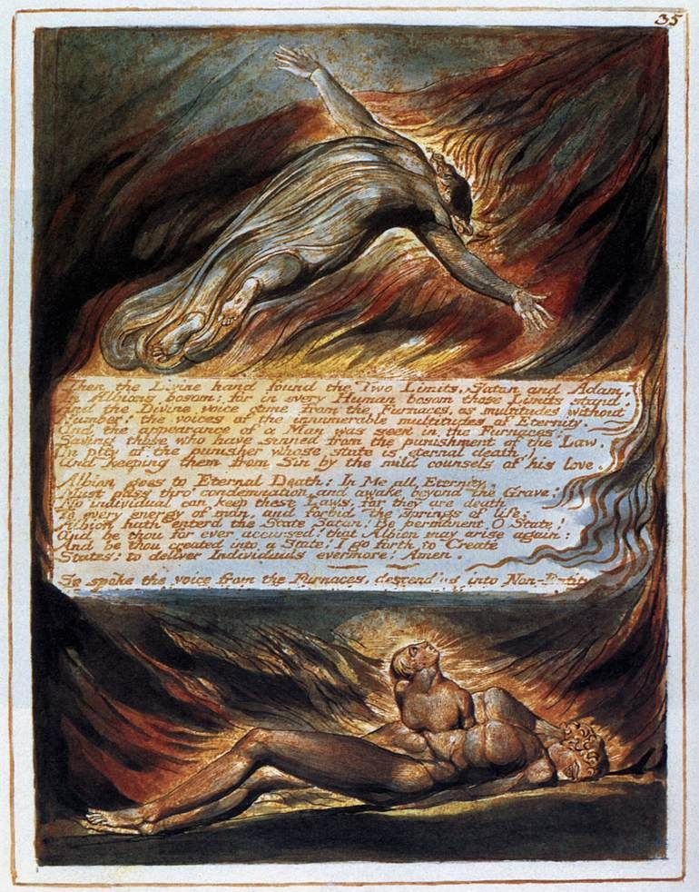 The Descent Of Christ William Blake Symbolism Late 19th Century