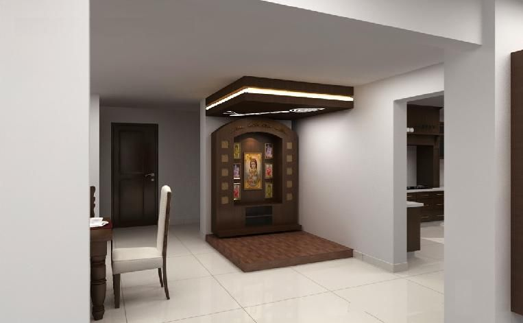 Exceptional Pooja Room Interior Design Ideas Part - 9: Pooja Room: Houses By Neeras Design Studio