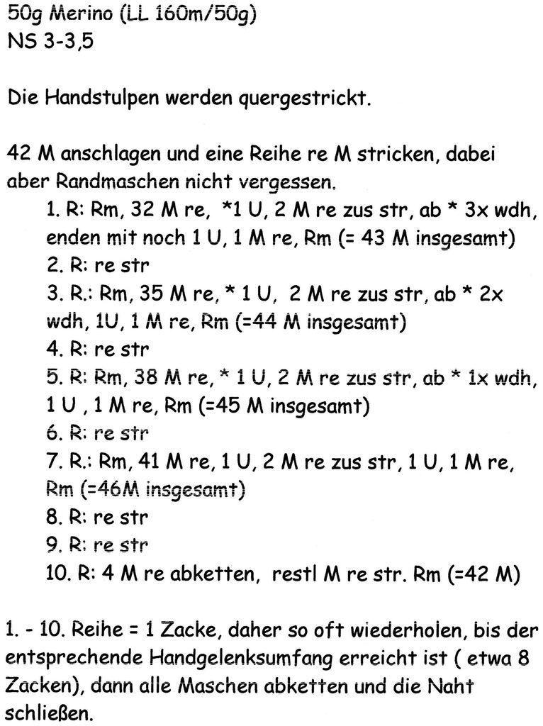 Photo of Anleitung  Handstulpen mit Spitze stricken ( Schritt-für-Schritt)