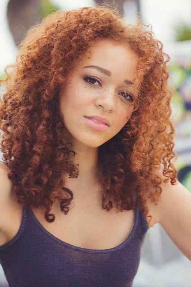 Red Hair Curls Gorgeous Black Curly Hair Red Hair On Dark