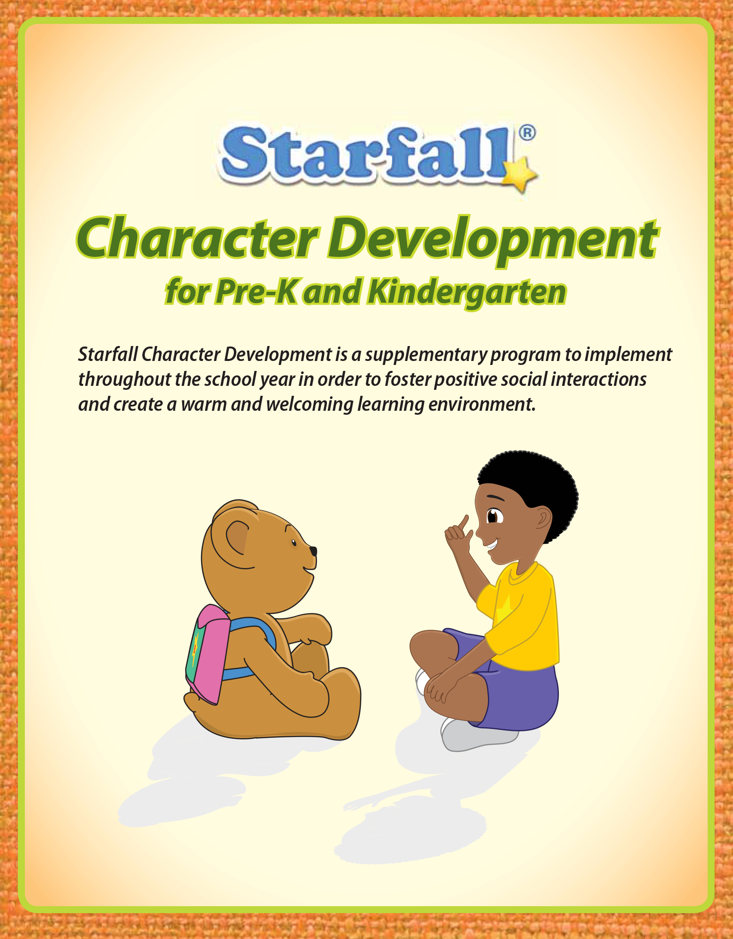 Starfall Has Character Development Lesson Plans For Pre K