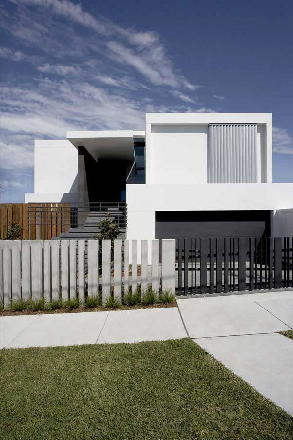Superbe Modern House Design With Front Fence For Front Fence With Innovative And  Interesting Design Ideas