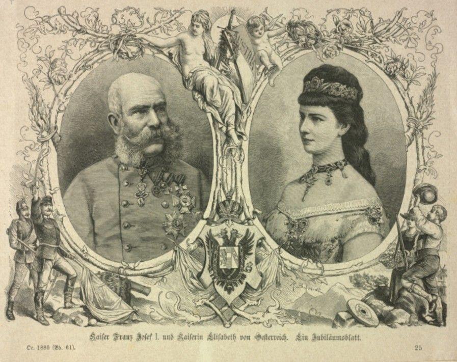 1879 Silver Wedding Of Emperor Franz Joseph I Of Austria And Empress Elisabeth Of Austria Princess Stephanie Rudolf Woman In Gold