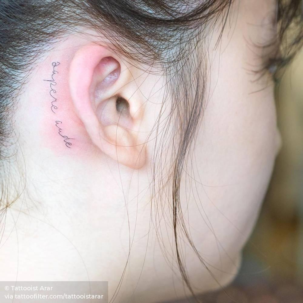 Pin En Tatuajes Detras De La Oreja