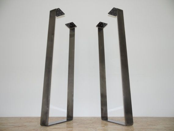 Counter High Custom Metal Table Legs 40x14 Bar Etsy In 2020 Iron Table Legs Bar Height Table Steel Table Legs