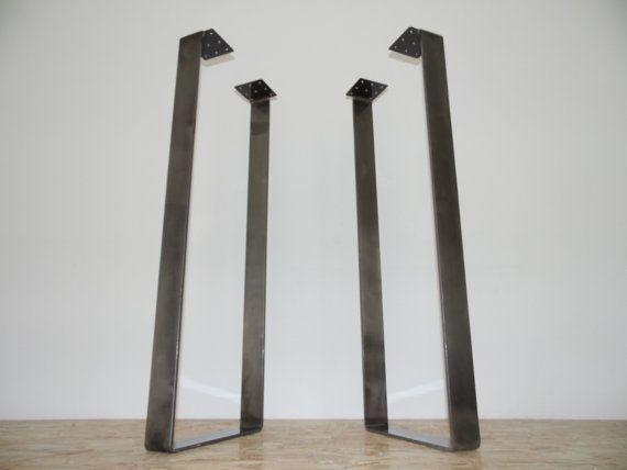 Counter High Custom Metal Table Legs 40 X14 Bar Height Steel Table Legs Height 33 To 40 Set 2 Iron Table Legs Bar Height Table Steel Table Legs