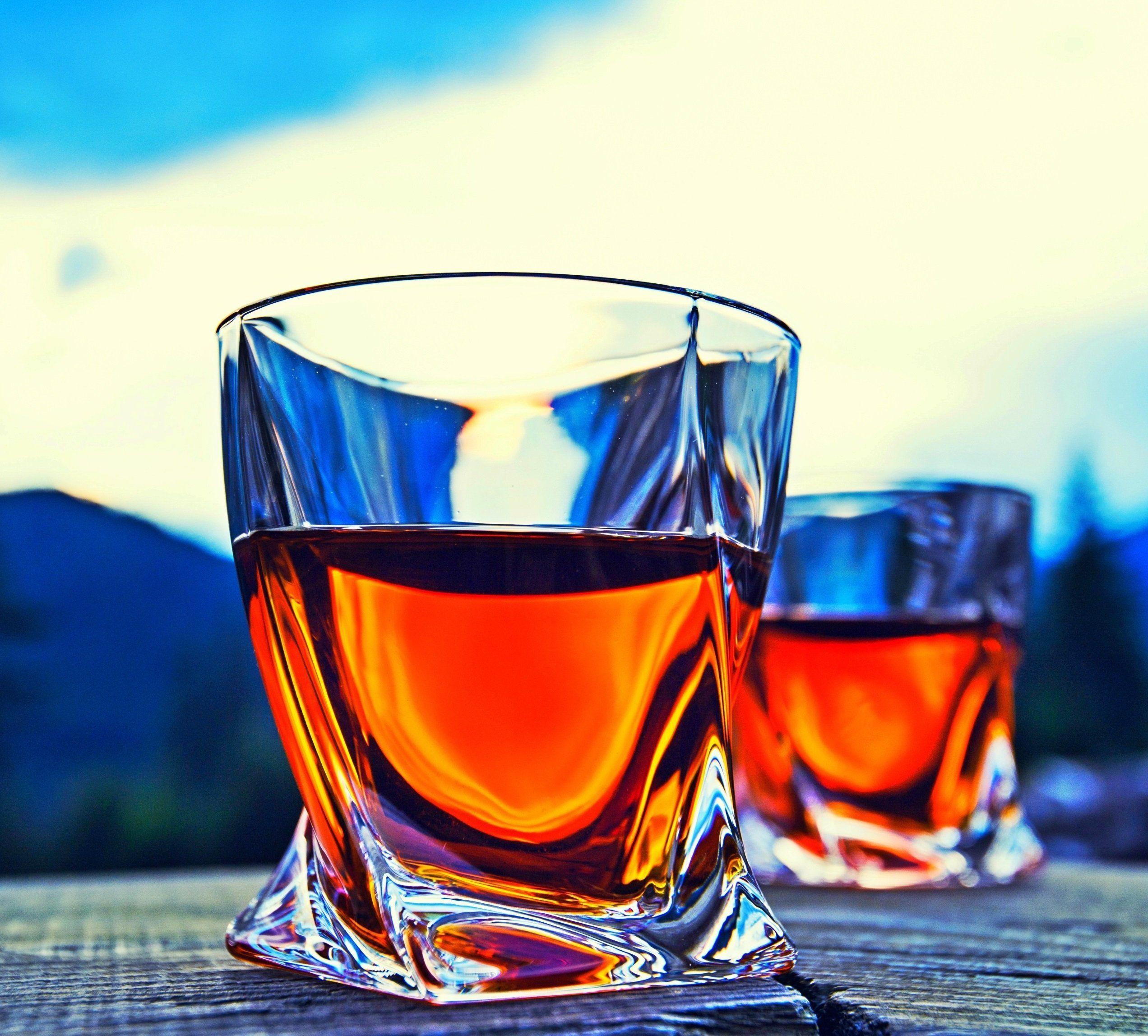 Venero Whiskey Glasses Set of 4 Premium LeadFree Crystal