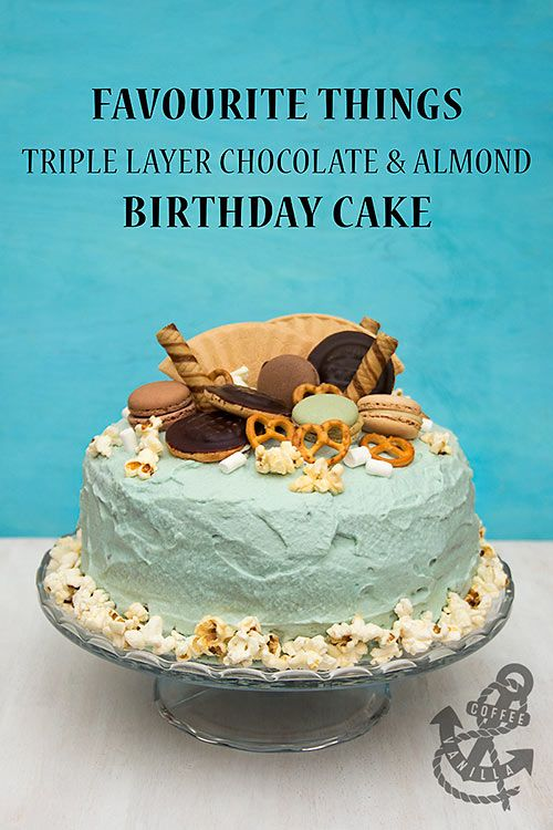 Favourite Things Triple Layer Chocolate Almond Birthday Cake