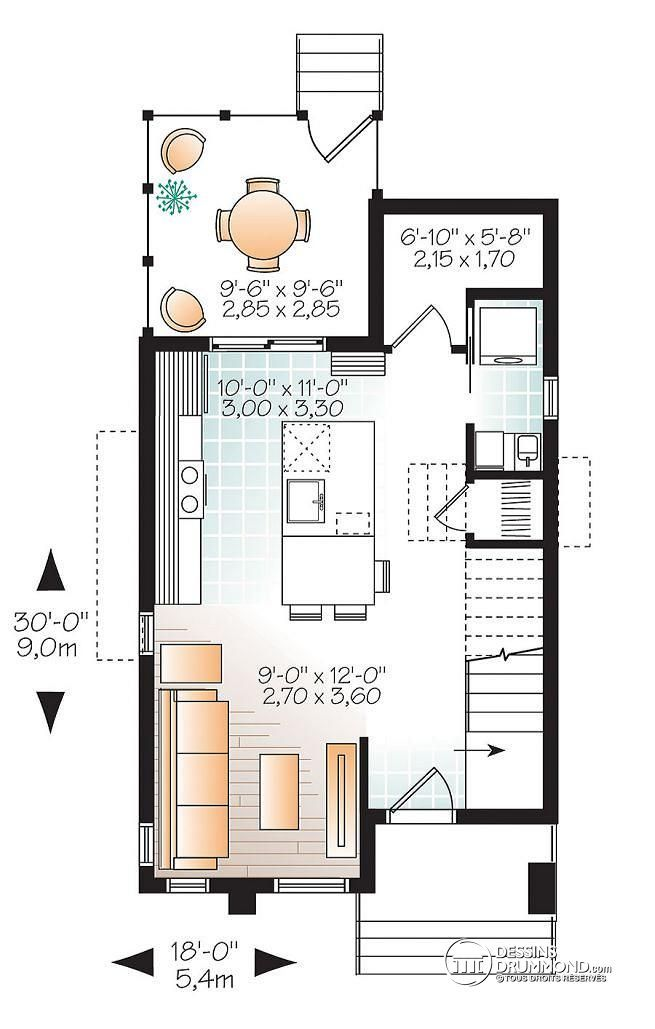 Int rieur d 39 une micro maison de style moderne rustique for Visite virtuelle maison moderne