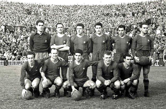 Equipos de fútbol: BARCELONA contra Gijón 10/02/1952