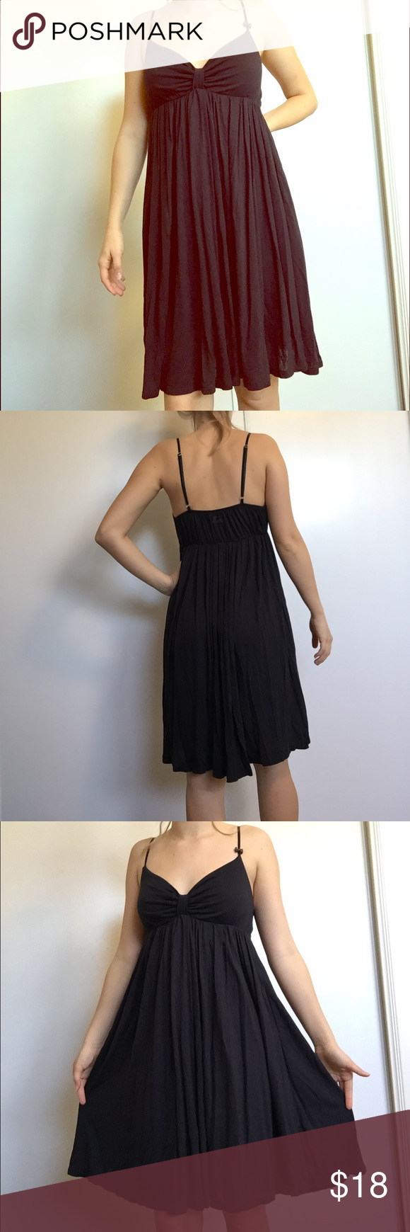 Little black dress flowy dress with great movement soft material