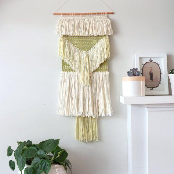 tissage de laine pi ce murale tissage textile tenture murale tapisserie tiss e tissage. Black Bedroom Furniture Sets. Home Design Ideas