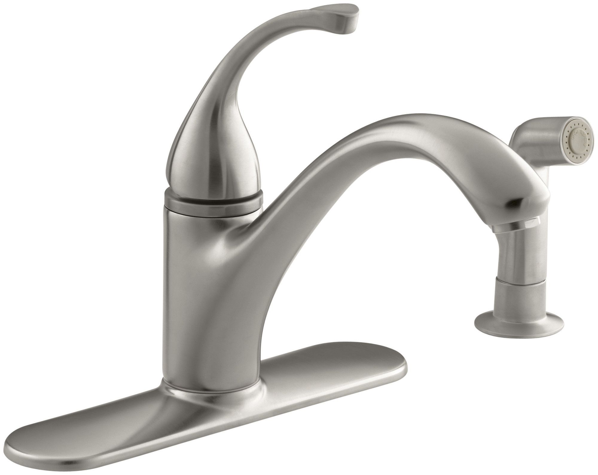 "Forté 4Hole Kitchen Sink Faucet With 9116"" Spout Matching Delectable 4 Hole Kitchen Faucet Design Inspiration"