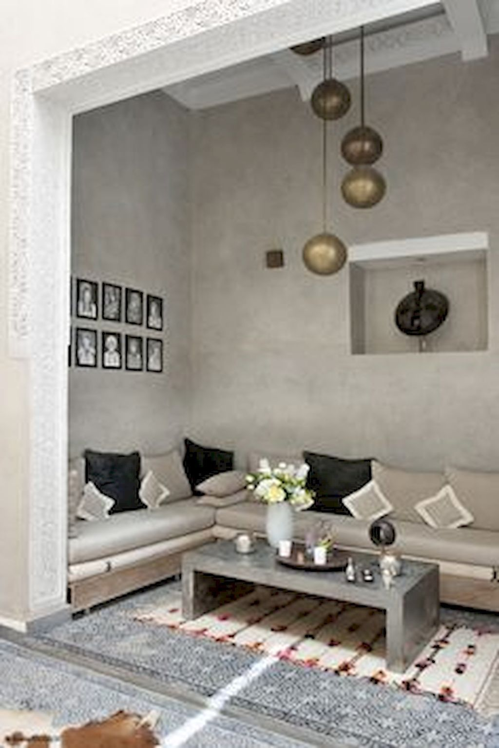 fascinating neutral modern living room | 50+ Fascinating Moroccan Vibe Style Living Room for ...