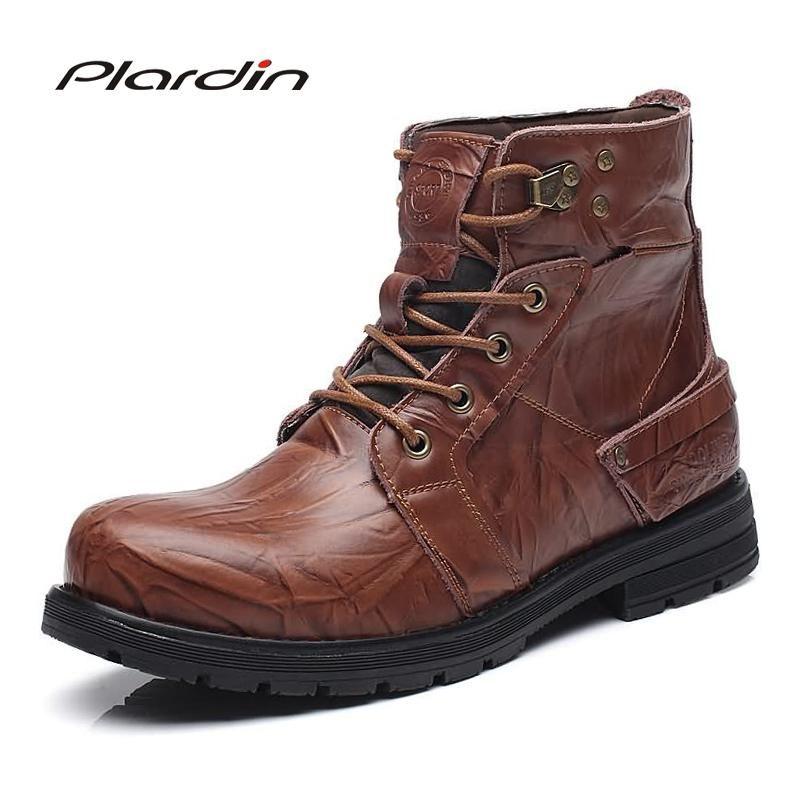 5e29f3566f24 Plardin New Pointed Toe genuine leather Knight boots Cross-tied Metal  Decoration Fashion - US  36.25