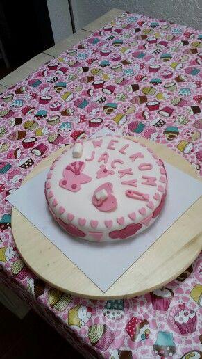 Baby meisje taart