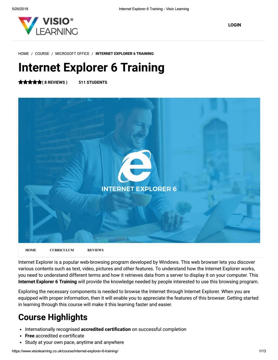 Internet Explorer 6 Training - Visio Learning | Office