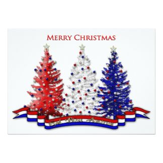 image result for red white and blue christmas tree