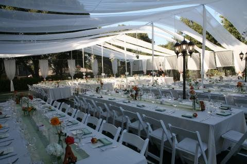For This Wedding We Used A Tennis Court For The Reception How To