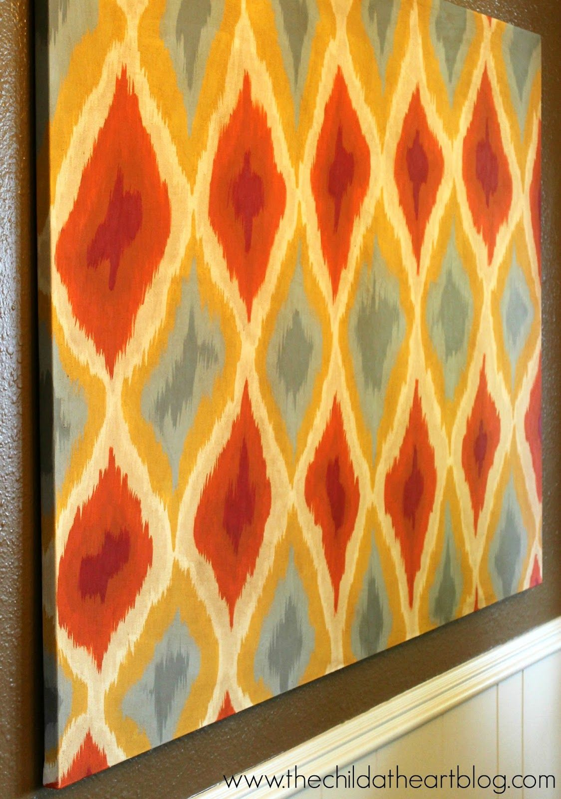 DIY Ikat Canvas Tutorial | Canvases, Tutorials and Child