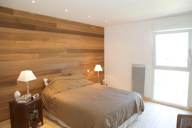 chambre lanbris ossature bois espaces de la maison pinterest ossature bois mur de bois et. Black Bedroom Furniture Sets. Home Design Ideas