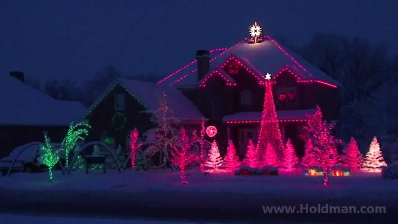 The Amazing Grace Christmas House   Holdman Christmas   Christmas Light Show