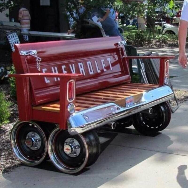 Recycled/re-purposed old car parts to furniture!!! | For the home ...