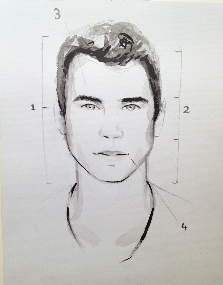 How To Draw A Face Of A Man: Narrated Cracked Tooth Dawing Face Google  Search Cracked Toothwatercolor Faceman Faceshow To Drawgenderwatercolors