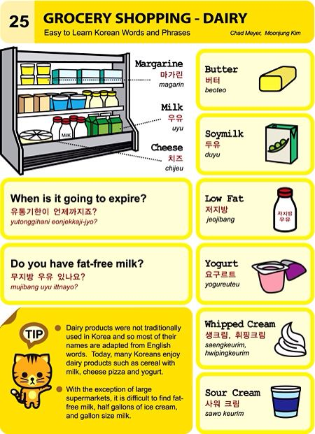Grocery Shopping   Diary An Illustrated Guide To Korean By Chad Meyer And  Moon  Grocery Words