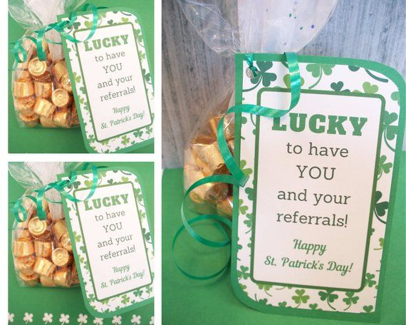 Printable Business Referral Thank You Tag Download, Client Business St. Patricks Day Gift Tag, Lucky Customer Appreciation DOWNLOAD
