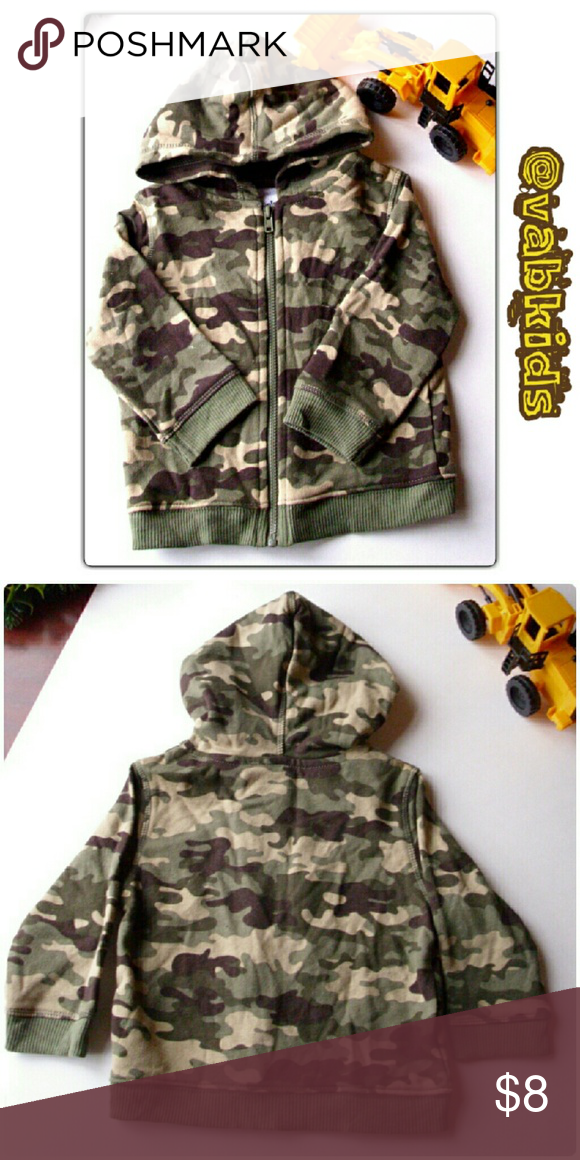 CUTE CAMO HOODIE! NWOT! Full zip, light weight camo hoodie! Shirts & Tops Sweatshirts & Hoodies