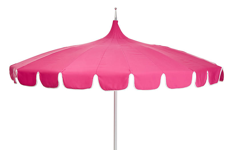 Aya Pagoda Patio Umbrella Pink White Pagoda Patio Patio