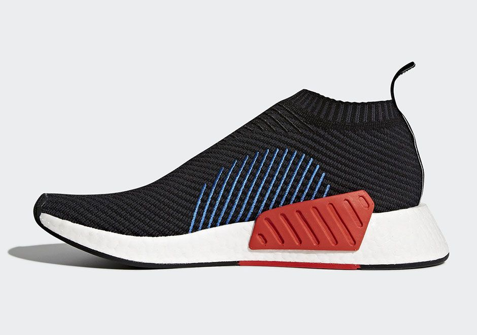 8ebbf9ce5 adidas NMD CS2 Core Black Blue and Orange CQ2372 Release Date + Official  Photos