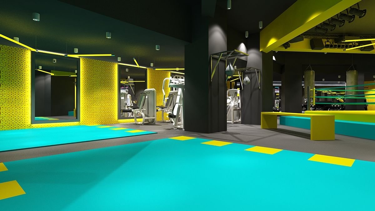 FITBOX l GYM on Behance Gym design, Gym interior