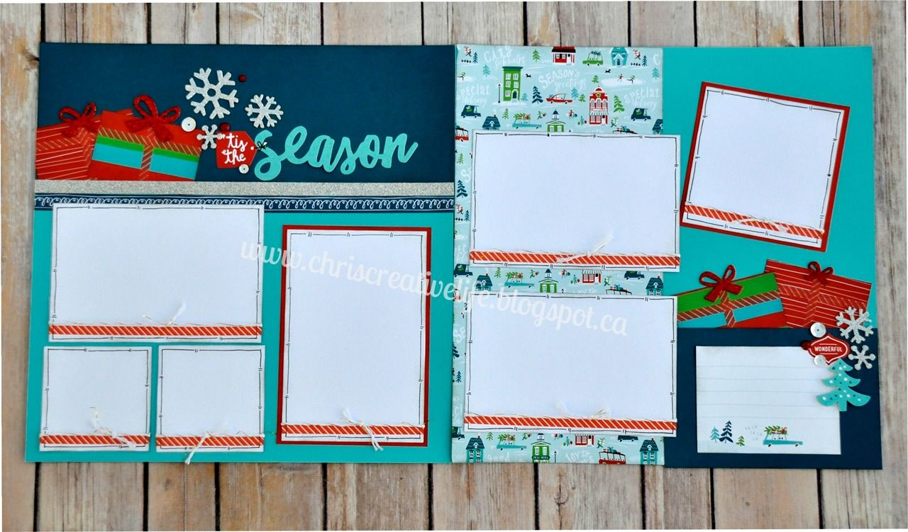 How to scrapbook a holiday - I Am Loving The New City Sidewalk Line From Close To My Heart It Is