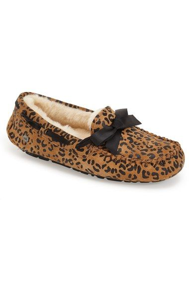 9c95270b3fd UGG® 'Dakota' Leopard Print Bow Slipper (Women) available at ...