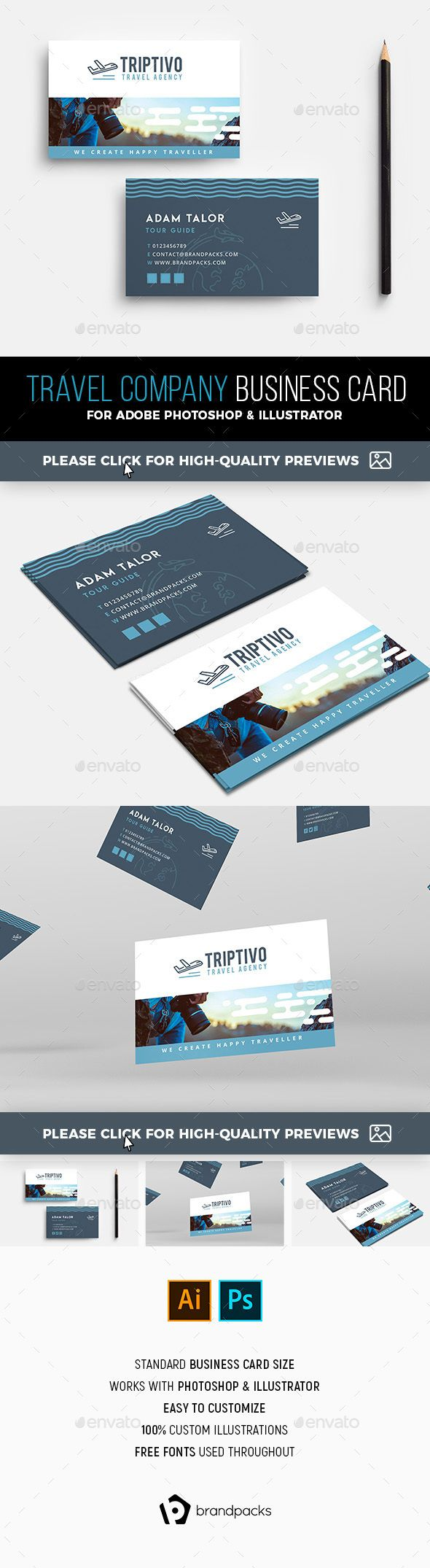 Travel Company Business Card Template Flyer Templates Pinterest