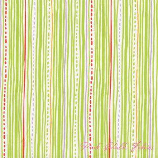 Wonderful for quilting - Alyssa Thomas Safari Sweet Stripe Lime - Organic Cotton $10.95