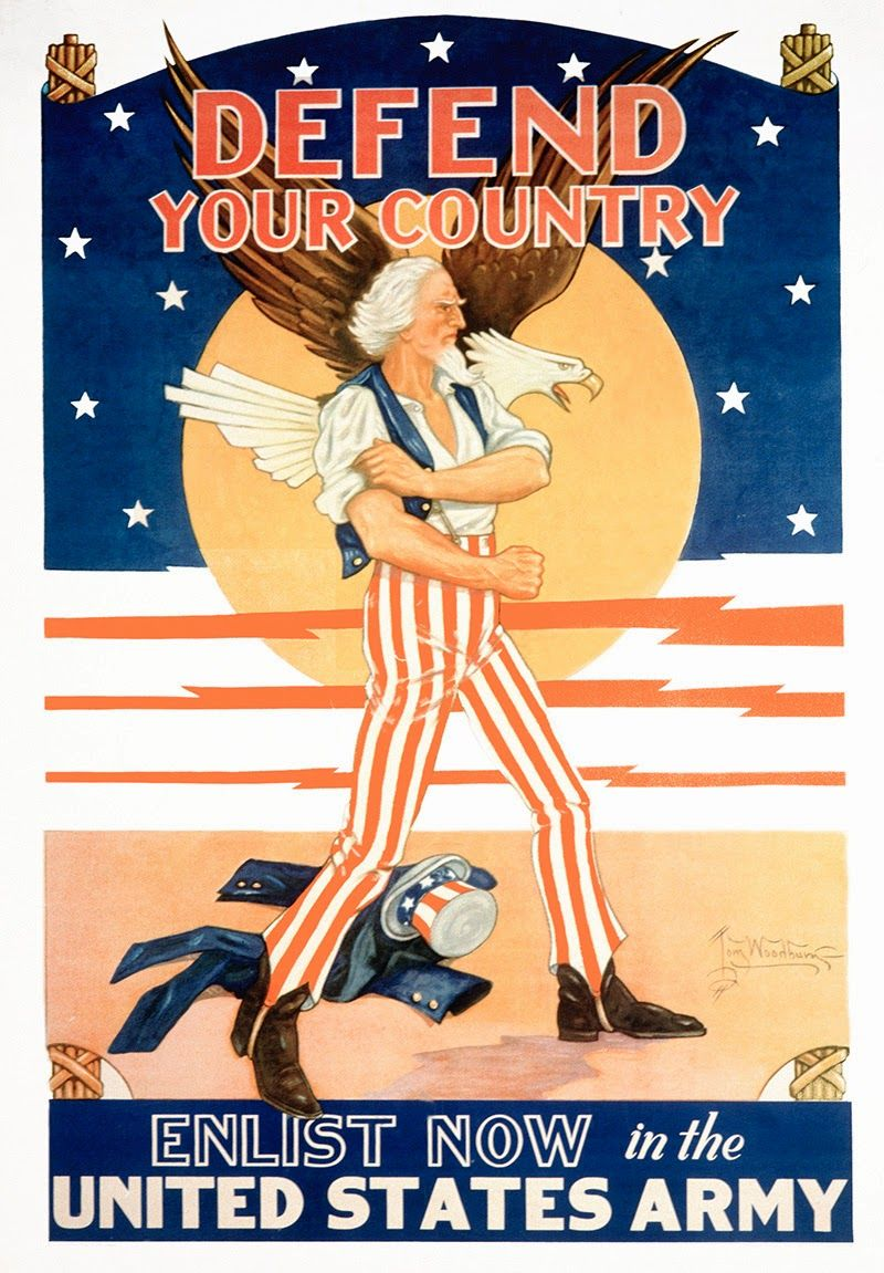 US Vintage.Recruiting Poster from World War Two..FEB16