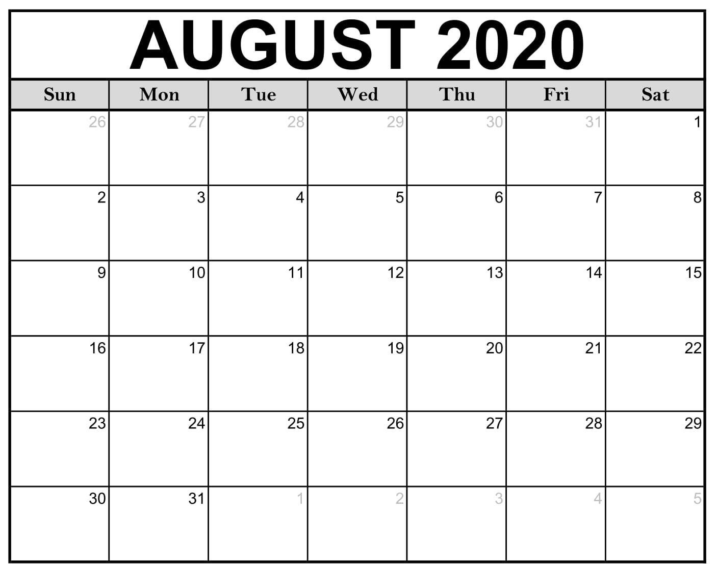Download This Free 2020 Monthly Printable Calendar With A Simple Black And White Des Calendar Template 2020 Calendar Template Free Printable Calendar Templates