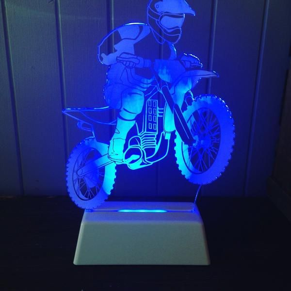 Dirt Bike Night Light Kidsroom Lamp Motorcycles
