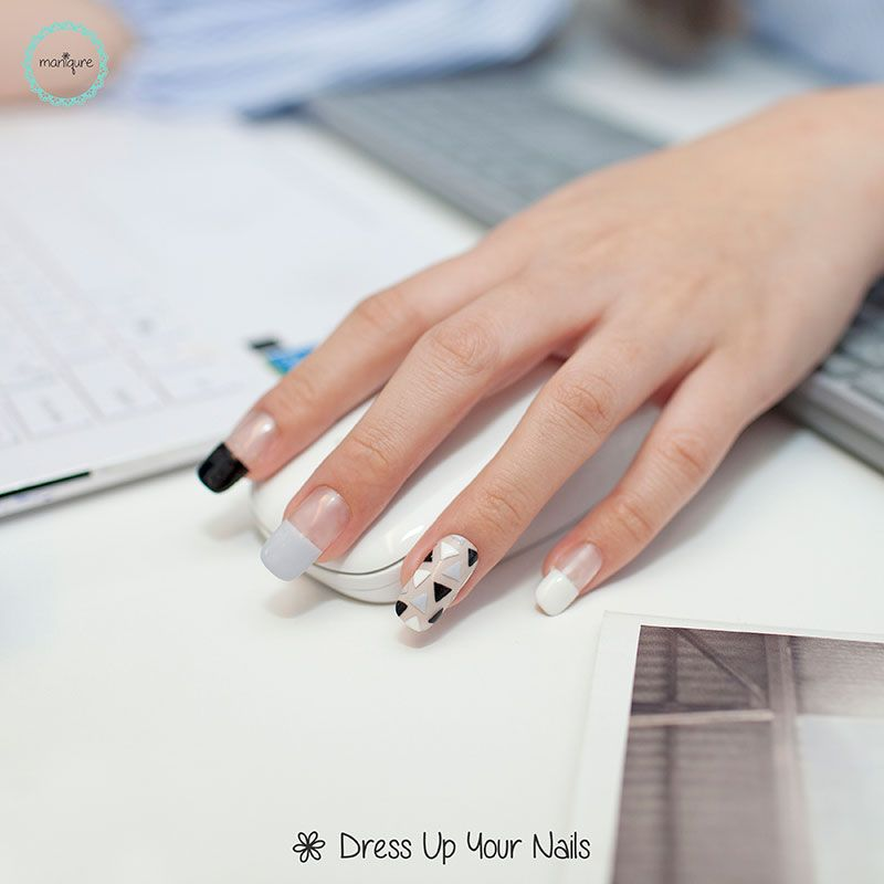 Pin On Office Nails Work Appropriate Manicure