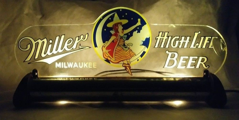 Scarce 1940s miller high life beer rog lighted back bar sign scarce 1940s miller high life beer rog lighted back bar sign milwaukee wi light aloadofball Choice Image