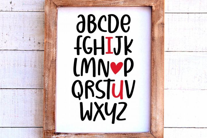 Download Abc I love you Svg, Valentines Day Svg, Cameo or Cricut ...