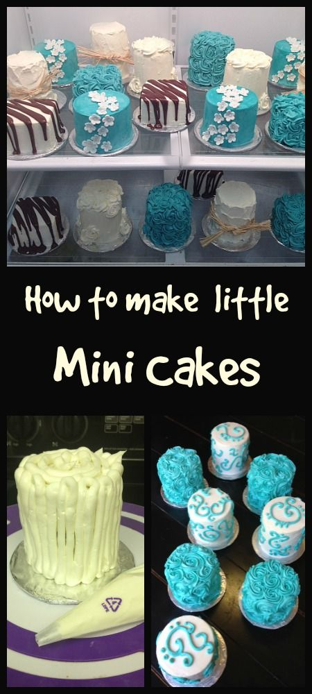 How to make Mini Cakes Little Delights Tutorials Pinterest