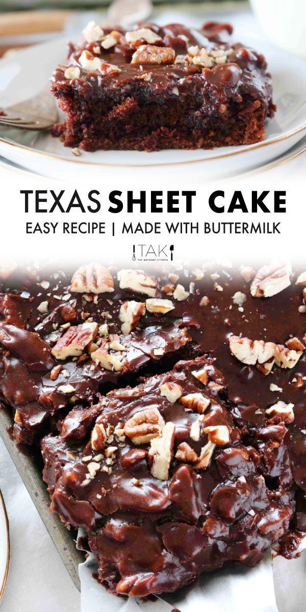 Original Texas Sheet Cake Recipe With Buttermilk Recipe In 2020 Sheet Cake Recipes Chocolate Sheet Cake Recipe Texas Sheet Cake Recipe
