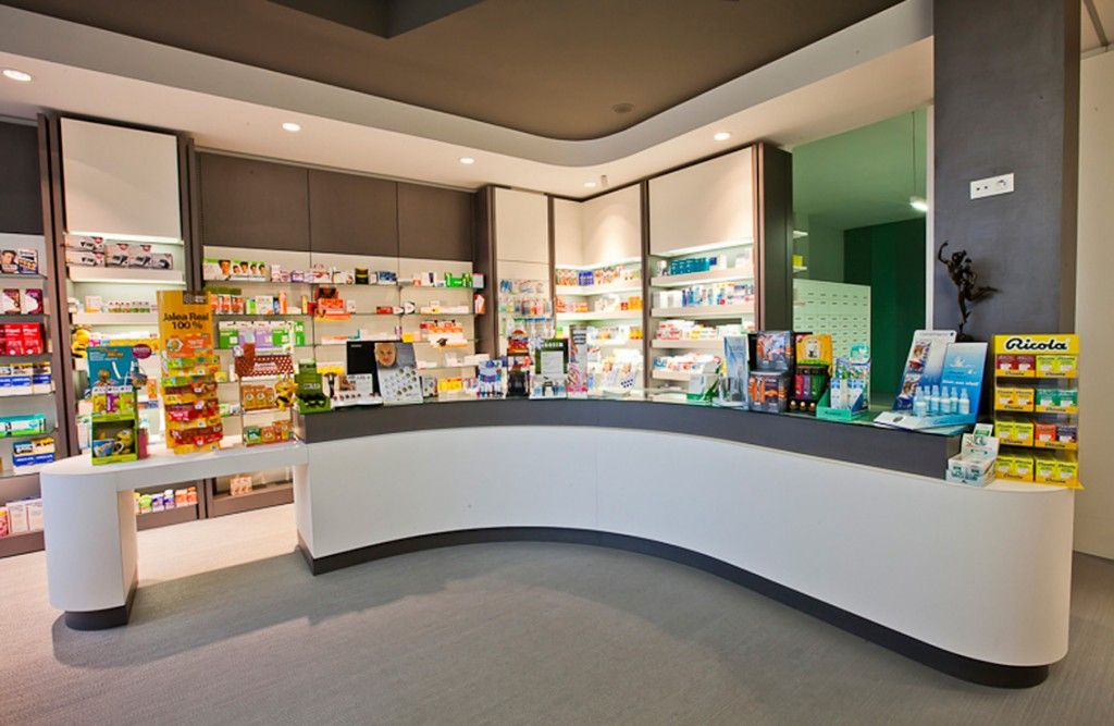Muebles y cajoneras de farmacia farmacias pinterest for Muebles para farmacia