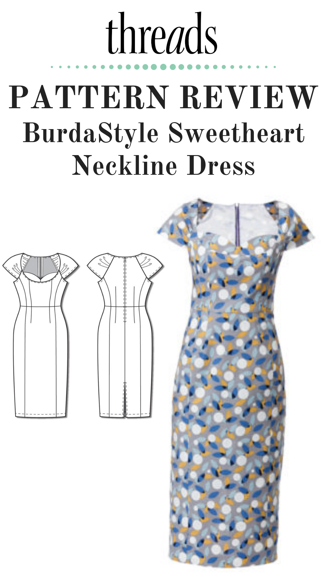 Pattern Review Burdastyle Sweetheart Neckline Dress Dresses